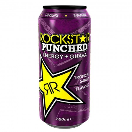 ROCKSTAR PUNCHED GUAVA ENERGY DRINK 12 x 500ml