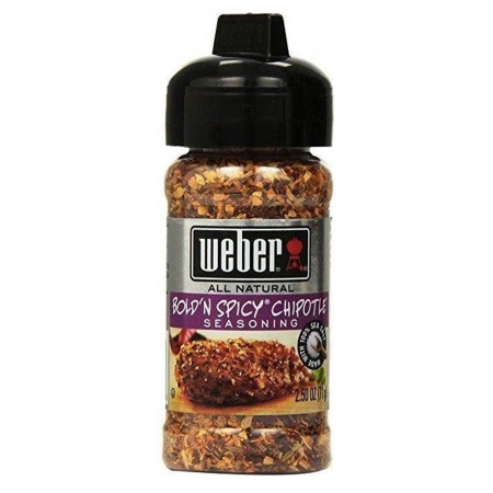 WEBER BOLD'N SPICY CHIPOTLE SEASONING 71gr GLUTEN FREE SPEZIE RUB