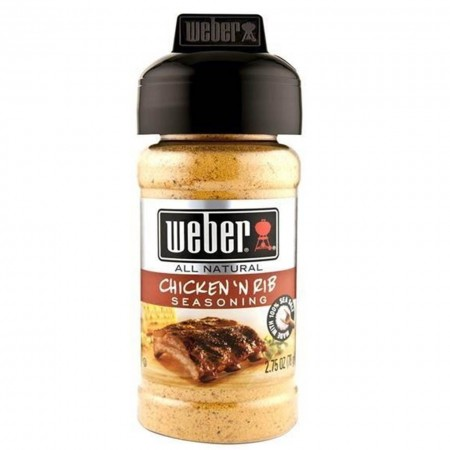WEBER 78gr CHICKEN'N RIB RUB SEASONING SPEZIE GRIGLIA BARBECUE POLLO RIBS