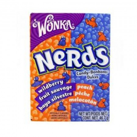 WONKA NERDS 46,7gr CARAMELLE WILDBERRY E PEACH FRIZZANTI